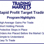 Introducing Rapid Profit Target Trading Program